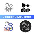 Finance department icon Royalty Free Stock Photo