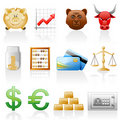 Finance icon set. Royalty Free Stock Photo