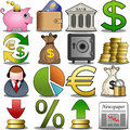 Finance icon set illustration featuring and banking on white background eps file is available check my portfolio for other Royalty Free Stock Photos