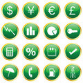 Finance Icons Royalty Free Stock Images