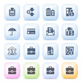 Finance icons on color buttons. Royalty Free Stock Photo