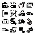 Finance icons elegant business and financial set Royalty Free Stock Photo