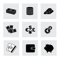 Finance icons over white background vector illustration Royalty Free Stock Images