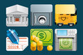 Finance icons a set of Stock Photography