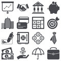 Finance icons set about concept Royalty Free Stock Photos