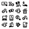 Finance icons set elegant business and financial Stock Image