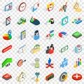 Finance icons set, isometric style Royalty Free Stock Photo