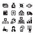 Finance icons vector illustration authors in Stock Photography