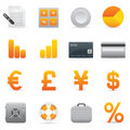 Finance Icons | Yellow 04 Stock Photos