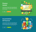 Finance market and accumulation of finances concept a magnet attracting golden coins from one side to the other financial diagram Stock Image