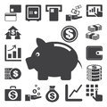 Finance and money icon set. Royalty Free Stock Images