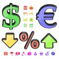 Finance symbols Royalty Free Stock Photos