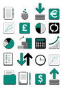 Finance web icons Stock Photo