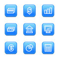 Finance web icons Royalty Free Stock Photography