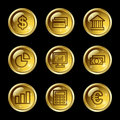 Finance web icons Stock Images