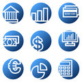 Finance web icons Stock Image