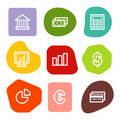 Finance web icons, colour spots series Royalty Free Stock Images
