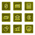 Finance web icons, electronics card series Stock Photos