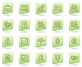Finance web icons, green document series Royalty Free Stock Image