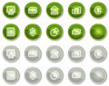 Finance web icons set 1, circle buttons series Stock Photography