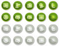 Finance web icons set 2, circle buttons series Stock Photo