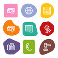 Finance web icons set 2, colour spots series Royalty Free Stock Photo