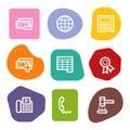 Finance web icons set 2, colour spots series Royalty Free Stock Photo