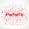 Finance word with in alphabets Royalty Free Stock Images