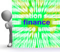 Finance word cloud sign means money investment meaning Royalty Free Stock Photos