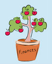 Finances tree Royalty Free Stock Photos