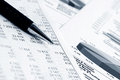 Financial accounting stock market graphs charts Royalty Free Stock Photo