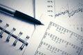 Financial accounting stock market graphs and charts Royalty Free Stock Photo