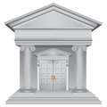 Financial allegory symbolic of the bank building vector illustration Stock Image
