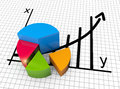 Financial business chart and graphs data in form of charts diagrams Stock Photos