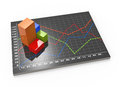 Financial business chart and graphs data in form of charts diagrams Royalty Free Stock Photography