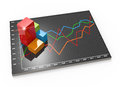 Financial business chart and graphs data in form of charts diagrams Royalty Free Stock Photo