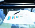 Financial and business color charts Royalty Free Stock Photo