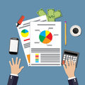 Financial calculations design Royalty Free Stock Photo