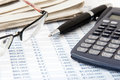 Financial calculator Royalty Free Stock Photo