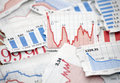 Financial charts Royalty Free Stock Images