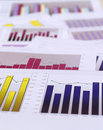 Financial charts Stock Photography