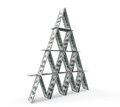 Financial concept abstract money pyramid on a white background Stock Photography