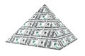 Financial concept abstract money pyramid on a white background Royalty Free Stock Photography
