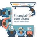 Financial consultant concept