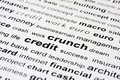 Financial credit crunch Royalty Free Stock Photo