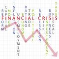 Financial crisis background Stock Photo