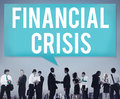Financial Crisis Bankruptcy Depression Finance Concept Royalty Free Stock Photo