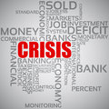 Financial Crisis Concept Stock Photography