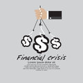 Financial crisis conceptual illustration vector eps Stock Images