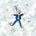 Financial crisis fall into the debt trap Stock Photos